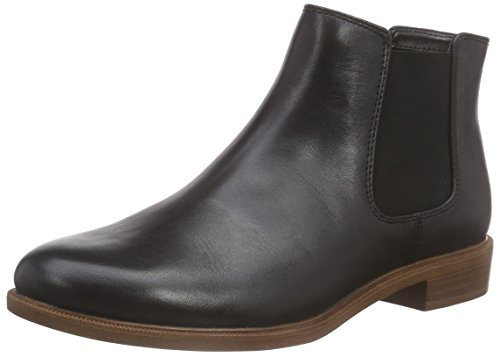 Clarks Taylor Shine, Damen Kurzschaft Stiefel, Schwarz (Black Leather), 39.5 EU (6 Damen UK)