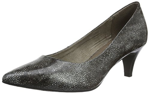 Tamaris Damen 22445 Pumps, Grau (Graphite Str. 252), 41 EU