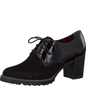 Tamaris Damenschuhe 1-1-23303-27 Damen Schnürpumps, Pumps, Schnürschuhe schwarz (BLACK), EU 39