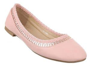Damen-Schuhe Ballerinas | elegante Slipper mit Blockabsatz in Rosa und Größe 36 | Schuhcity24 | Strass Loafers